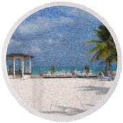 Bahamas Round Beach Towel