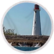 Bahamas Lighthouse Round Beach Towel