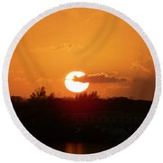 Bahamian Sunset Round Beach Towel