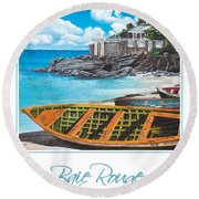 Baie Rouge Poster Round Beach Towel