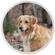 Bailee The Golden Round Beach Towel
