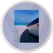 Bajan Boat Round Beach Towel