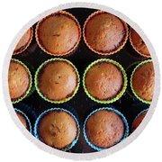 Baked Cupcakes Round Beach Towel