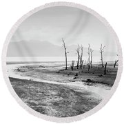 Bako National Park At Low Tide. Round Beach Towel