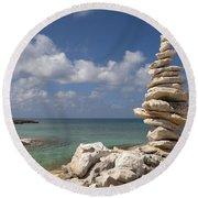 Balance Round Beach Towel