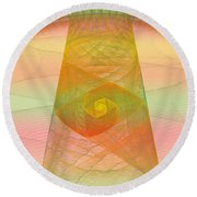 Balance Of Energy Round Beach Towel