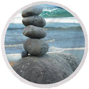 Balanced Round Beach Towel