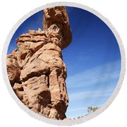 Balanced Rock 1 Round Beach Towel