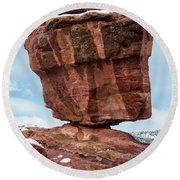 Balanced Rock Round Beach Towel
