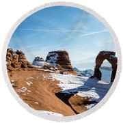 Delicate Arch Wide Round Beach Towel