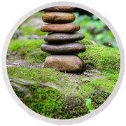 Balancing Zen Stones IIi Round Beach Towel
