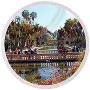 Balboa Afternoon Round Beach Towel