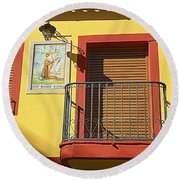 Spanish Balcony Round Beach Towel