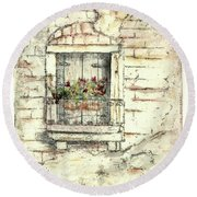 Balcony Venice Round Beach Towel