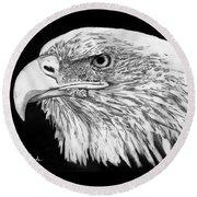 Bald Eagle #4 Round Beach Towel