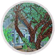 Bald Head Island, Village Chapel Round Beach Towel