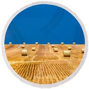 Bales On The Storm Round Beach Towel