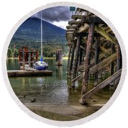 Balfour British Columbia Round Beach Towel