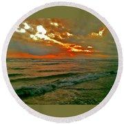 Bali Evening Sky Round Beach Towel