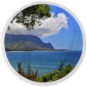 Bali Hai Hawaii Round Beach Towel