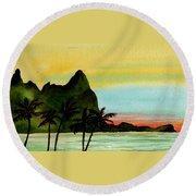 Bali Hi Kauai Round Beach Towel