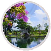 Bali Reflections Round Beach Towel
