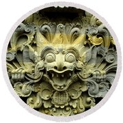 Bali Temple Art Round Beach Towel