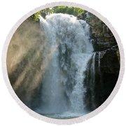 Bali Waterfalls Too Round Beach Towel