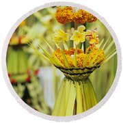 Balinese Ceremony Round Beach Towel