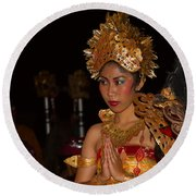 Balinese Dancer Round Beach Towel