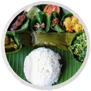 Balinese Traditional Lunch Round Beach Towel