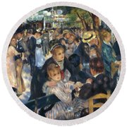 Ball At The Moulin De La Galette 1876 Round Beach Towel