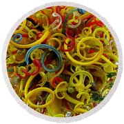 Ball Of Chihuly Glass Round Beach Towel