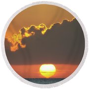 Ball Of Fire Round Beach Towel by David Buhler