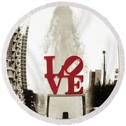 Ball Of Love Round Beach Towel