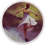 Ballerina Dance 0391 Round Beach Towel