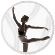 Ballerina Grace Round Beach Towel
