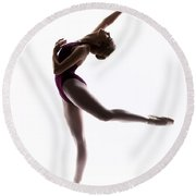 Ballerina Reach Round Beach Towel