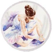 Ballerina Round Beach Towel