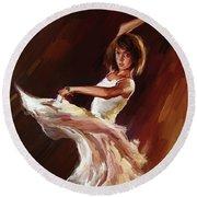 Ballet Dance 0706  Round Beach Towel