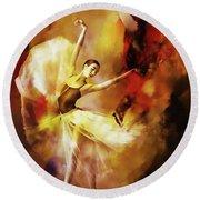 Ballet Dance 3390 Round Beach Towel
