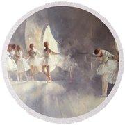 Ballet Studio  Round Beach Towel by Peter Miller