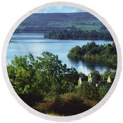 Ballindoon Abbey, Lough Arrow, County Round Beach Towel