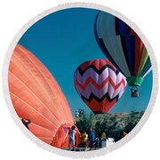 Ballon Launch Round Beach Towel