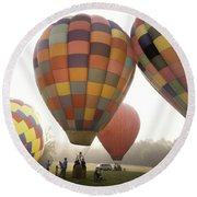 Balloon Day Is A Happy Day Round Beach Towel