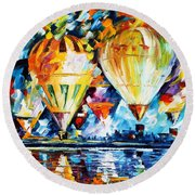 Balloon Festival New Round Beach Towel