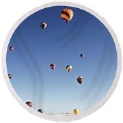 Balloon Fiesta On White Sands National Monument, September 19, 2 Round Beach Towel