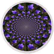 Balloon Flower Kaleidoscope Round Beach Towel