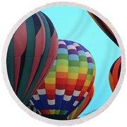 Balloon Glow I Round Beach Towel