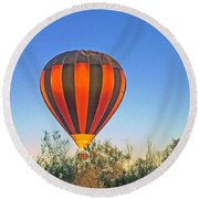 Balloon Launch Round Beach Towel